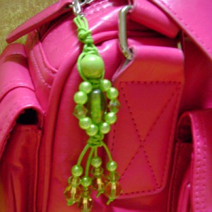 Funky Green Handbag Charm Project Idea