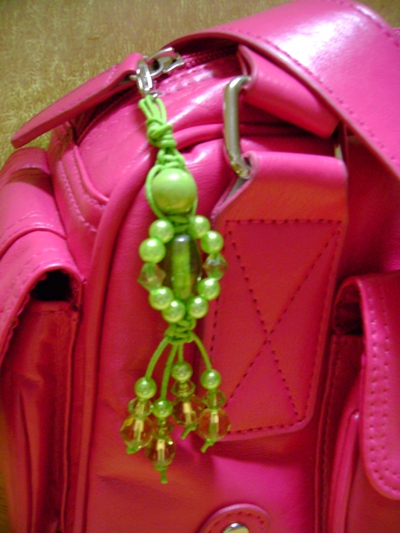 Funky Green Handbag Charm Project