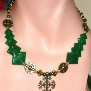 Marvelous Malachite Choker Jewelry Idea