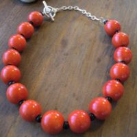 Orange Clay Bead Choker Project