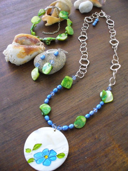 Blue And Green Shell Pendant Project