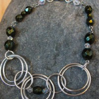 Green Pearl And Hoop Necklace Project
