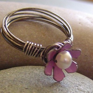 Enameled Flower Ring Project Idea