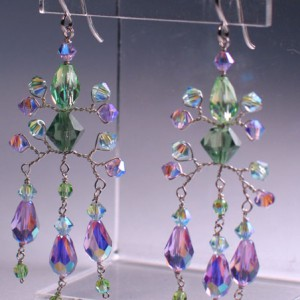 Crystal Shiva Earrings Project Idea