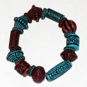 Turquoise And Brown Bracelet Project