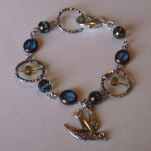 Swallow Charm Bracelet Jewelry Idea