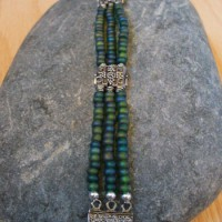 Green Seed Bead Triple Strand Bracelet Project