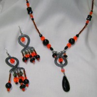 Ethnic Fire Necklace and Earrings Project