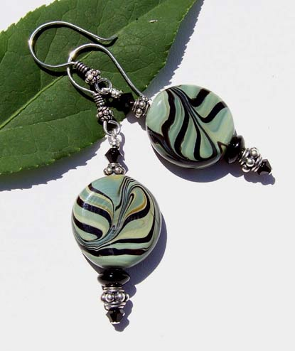 Lampwork Swirl Beaded Earrings Project