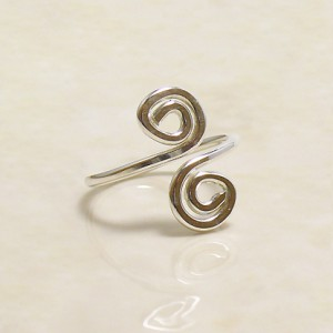 Sterling Swirly Toe Ring Project Idea