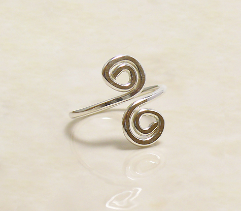 Sterling Swirly Toe Ring Project