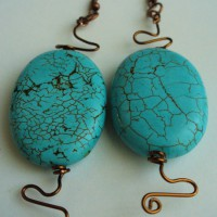 Copper Twist And Torqoise Earrings Project