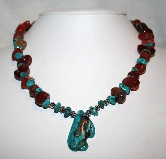 Carnelian And Turquoise Necklace Project