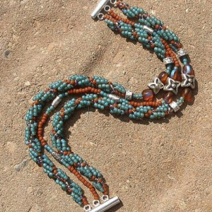 Dna Spiral Woven Beaded Bracelet Project Idea