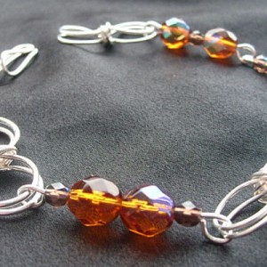 Silver Plated Topaz Bracelet Project