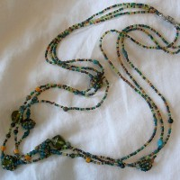 Beaded Bead Three Strand Necklace Project