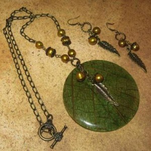 Genuine Leaf Pendant And Earring Set Project