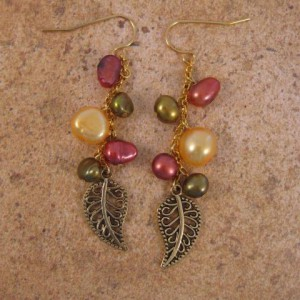 Falling Leaves Earrings Project Idea