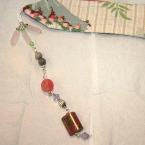 Beaded Fabric Bookmark Jewelry Idea