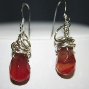 Wire Wrapped Agate Earrings Project Idea