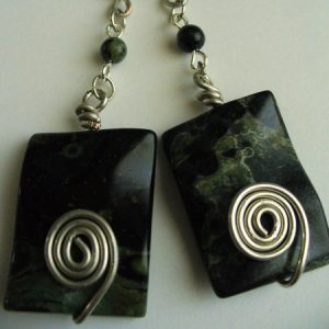 Peacock Stone Swirl Earrings Jewelry Idea