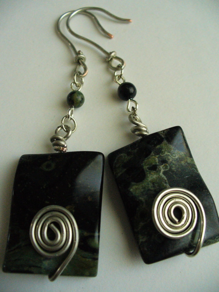 Peacock Stone Swirl Earrings Project
