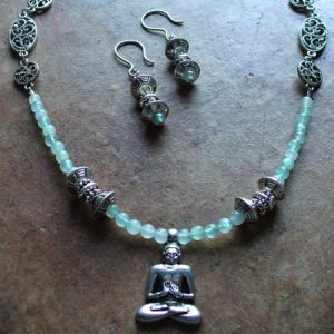Buddha Necklace & Earrings Jewelry Idea