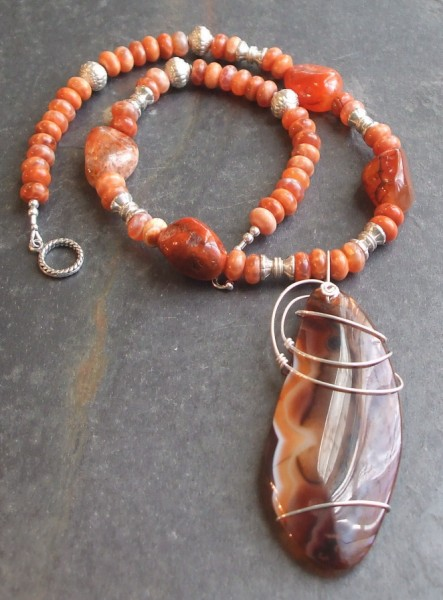 Red Earth Pendant Necklace Project