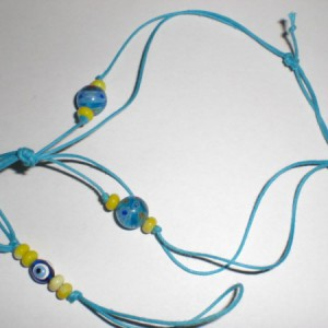 Turquoise Beaded Footlet Project