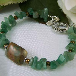 Aventurine Gemstone Bracelet Jewelry Idea