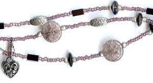 Three-strand Purple Bracelet with Charms Project Idea