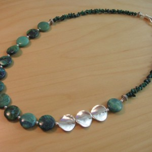 Mae Necklace With Chrysocalla and Malachite Project