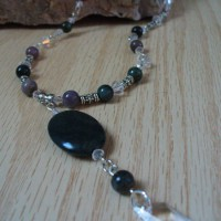 Jade Gemstone And Crystal Drop Necklace Project