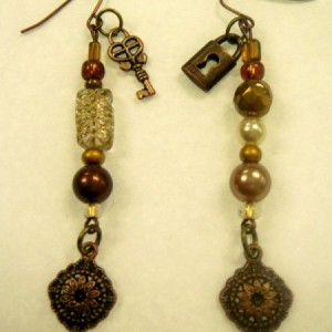 Lock And Key Beaded Earrings Jewelry Idea