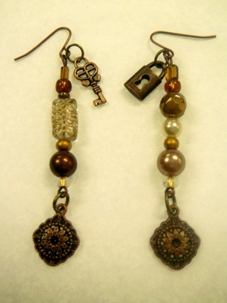 Lock And Key Beaded Earrings Project