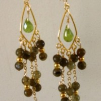 Forest Rain Labradorite Chandelier Earrings Project