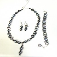 Malaya's Grace Black Pearl Necklace-set Project