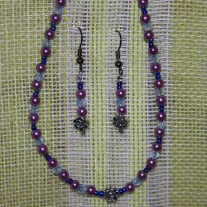 Purple and Blue Beaded Necklace Project Idea