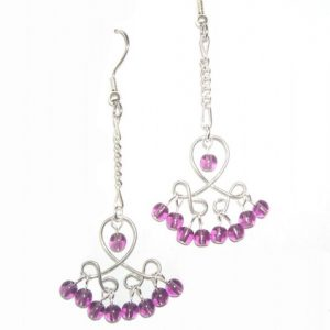 Amethyst Loop Earrings Project Idea