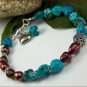 Turquoise And Pearl Bracelet Jewelry Idea