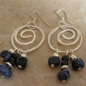 Sodalite Swirl Earrings Jewelry Idea