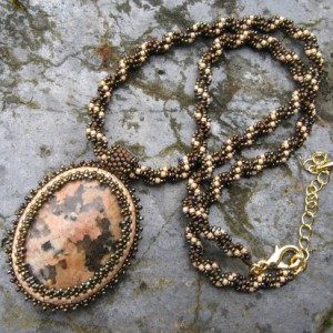 Leopard Skin Jasper Beaded Cabochon Project Idea