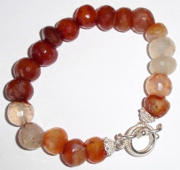 Faceted Fire Agate Bracelet Project