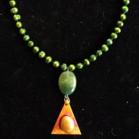 Emerald Pearl And Torched Copper Necklace Project