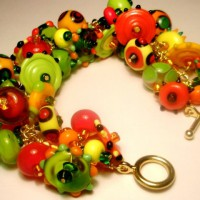 Bold Orange and Green Bracelet Project