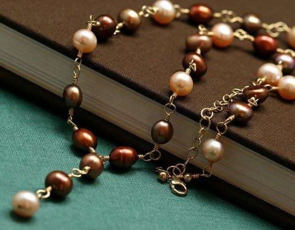 Brown And Cream Freshwater Pearl Necklace Project