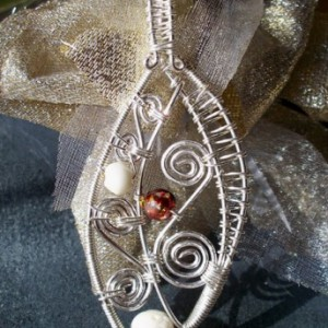 Sterling Silver & Bone Bead Pendant Project