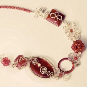 Funky Wire Wrapped Carnelian Necklace Project