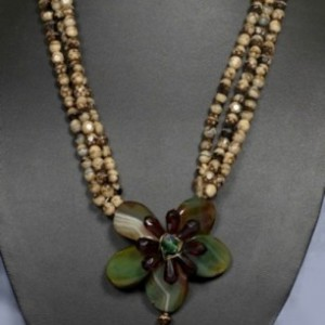 Earthy Blossom Tiger-Eye Necklace Project Idea