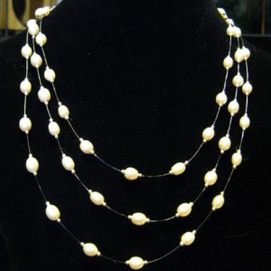 Classic Pearl Illusion Necklace Project Idea